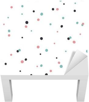 Adesivo per Tavolino Lack Astratto modello senza saldatura su sfondo bianco con il nero e Gol