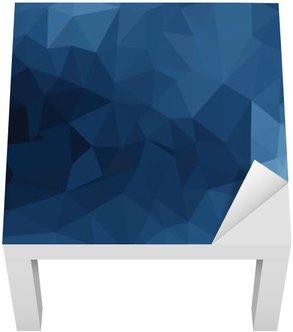 Adesivo per Tavolino Lack Blu disegno geometrico, triangoli di sfondo