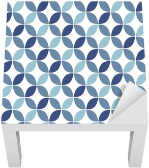 Adesivo per Tavolino Lack Geometrico blu Retro Seamless Pattern