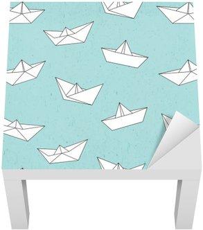 Adesivo per Tavolino Lack Modello Barca di carta