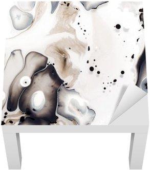 Adesivo per Tavolino Lack Opere d'arte astratta in acqua.