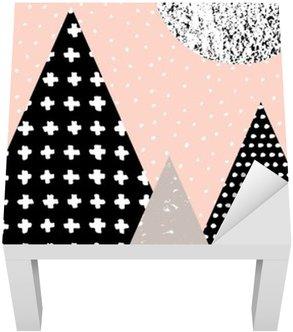 Adesivo per Tavolino Lack Paesaggio astratto geometrica