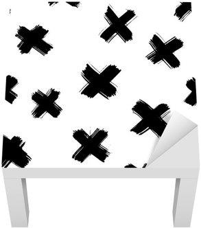 Adesivo per Tavolino Lack Pennello senza saldatura colpi modello