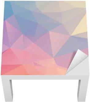 Adesivo per Tavolino Lack Poligono colorato