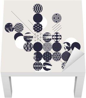 Adesivo per Tavolino Lack Priorità bassa geometrica astratta moderna
