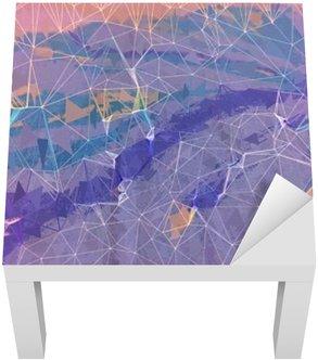 Adesivo per Tavolino Lack Rosa e viola grunge astratto illustrazione