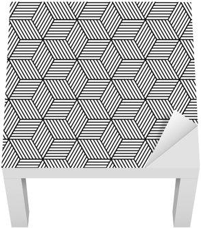 Adesivo per Tavolino Lack Seamless pattern geometrici con cubetti.