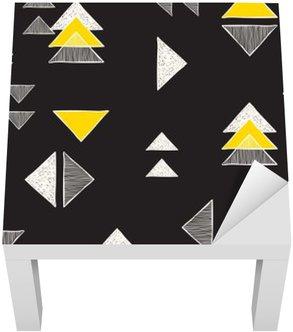 Adesivo per Tavolino Lack Senza soluzione di continuità disegnato a mano triangoli modello.