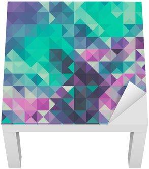 Adesivo per Tavolino Lack Triangolo sfondo, verde e viola