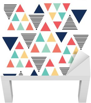 Adesivo per Tavolino Lack Triangolo variazione di colore modello