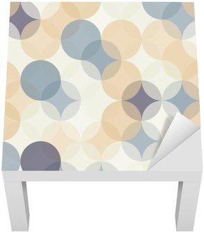 Adesivo per Tavolino Lack Vector moderno senza soluzione di cerchi colorati modello di geometria, colore di sfondo astratto geometrica, stampa carta da parati, retro struttura, disegno di moda pantaloni a vita bassa, __
