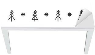 Adesivo per Tavolo & Scrivania Albero di Natale senza soluzione di continuità modello