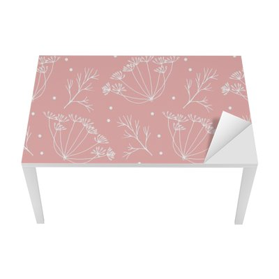 Adesivo per Tavolo & Scrivania Aneto o finocchio fiori e foglie modello.