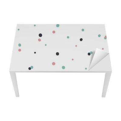 Adesivo per Tavolo & Scrivania Astratto modello senza saldatura su sfondo bianco con il nero e Gol