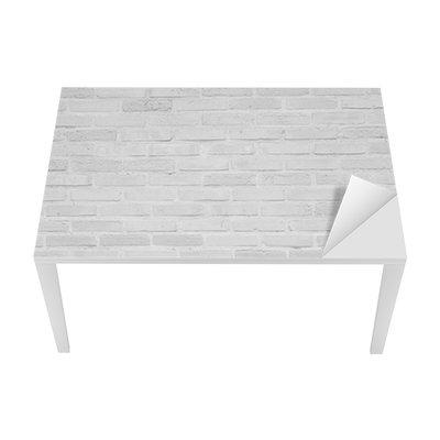 Adesivo per Tavolo & Scrivania Bianco muro di mattoni grunge texture di sfondo