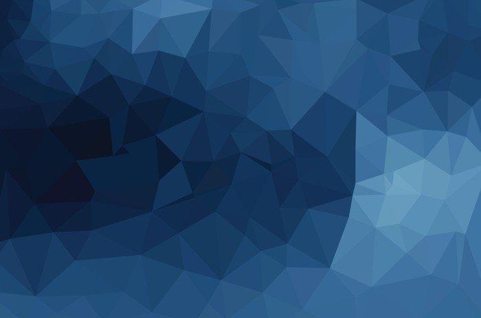 Adesivo per Tavolo & Scrivania Blu disegno geometrico, triangoli di ...
