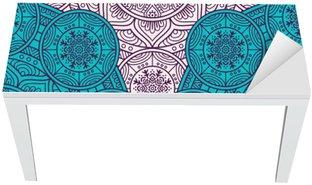 Adesivo per Tavolo & Scrivania Ethnic floral seamless pattern