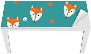 Adesivo per Tavolo & Scrivania Fox seamless. Doodle sfondo.