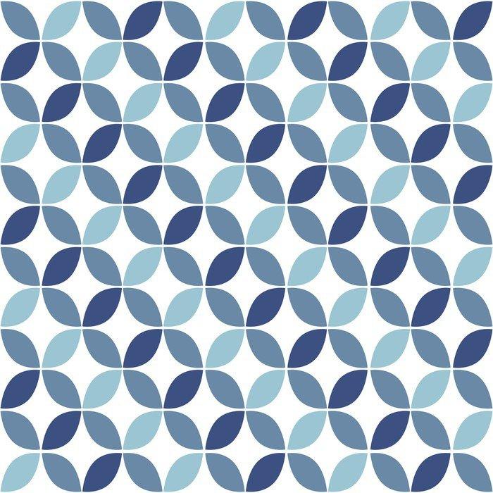 Adesivo per Tavolo & Scrivania Geometrico blu Retro Seamless Pattern ...