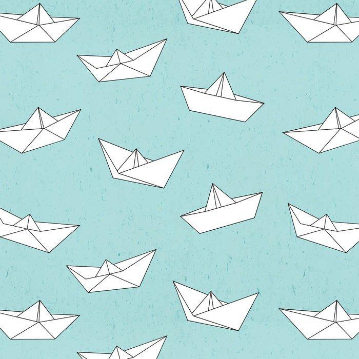 Adesivo per Tavolo & Scrivania Modello Barca di carta • Pixers ...