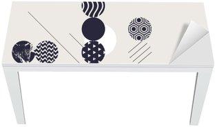 Adesivo per Tavolo & Scrivania Priorità bassa geometrica astratta moderna