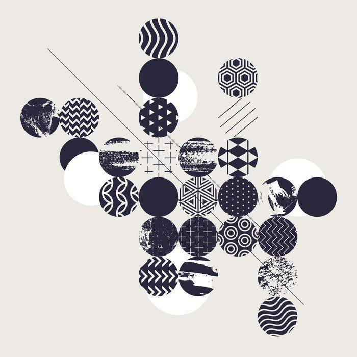 Adesivo per Tavolo & Scrivania Priorità bassa geometrica astratta ...