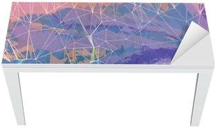 Adesivo per Tavolo & Scrivania Rosa e viola grunge astratto illustrazione