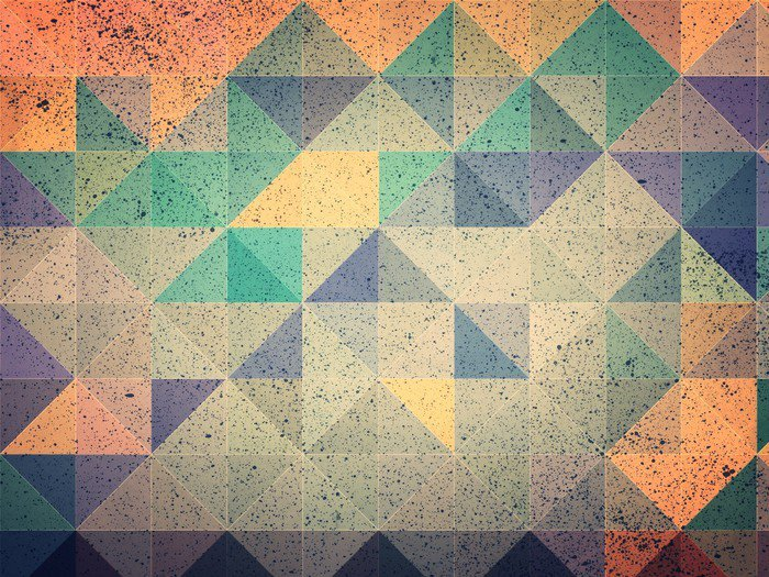 Adesivo per Tavolo & Scrivania Rosa e viola triangolo astratto ...