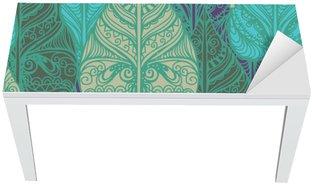 Adesivo per Tavolo & Scrivania Seamless pattern con foglie