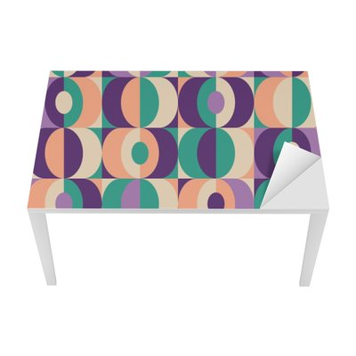 Adesivo per Tavolo & Scrivania Senza saldatura disegno geometrico epoca