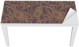 Adesivo per Tavolo & Scrivania Tessuto paisley Orient seamless
