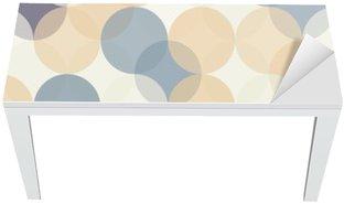 Adesivo per Tavolo & Scrivania Vector moderno senza soluzione di cerchi colorati modello di geometria, colore di sfondo astratto geometrica, stampa carta da parati, retro struttura, disegno di moda pantaloni a vita bassa, __
