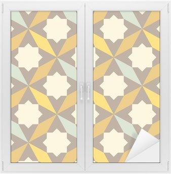 Adesivo per Vetri & Finestre Astratta retrò pattern geometrico