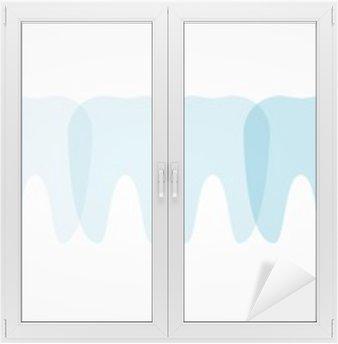 Adesivo per Vetri & Finestre Denti illustrazione