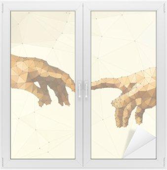Adesivo per Vetri & Finestre Illustrazione astratta mano di Dio vettore