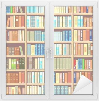 Adesivo per Vetri & Finestre Libreria piena di libri