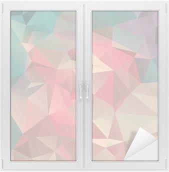 Adesivo per Vetri & Finestre Low poly trangular moda sfondo Art