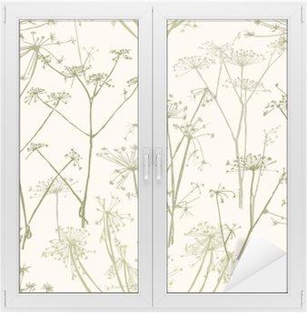 Adesivo per Vetri & Finestre Reticolo dei fiori ombrello
