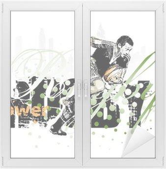 Adesivo per Vetri & Finestre Rugby-1