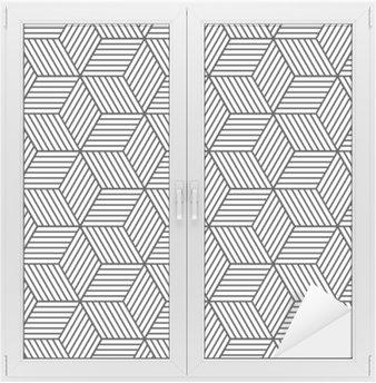Adesivo per Vetri & Finestre Seamless pattern geometrici con cubetti.