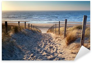 Pixerstick per Tutte le Superfici Percorso verso nord spiaggia del mare sotto il sole d'oro