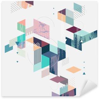 Adesivo Pixerstick Priorità bassa geometrica astratta moderna