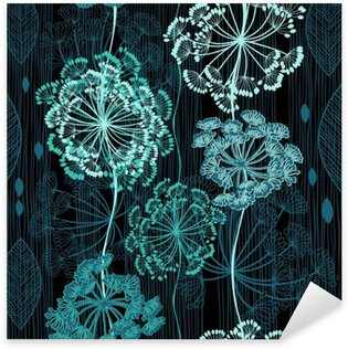 Pixerstick per Tutte le Superfici Seamless pattern di fiori astratti. backgrou floreale disegnato a mano