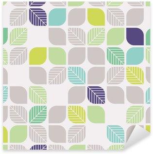 Adesivo Pixerstick Seamless pattern geometrici con foglie