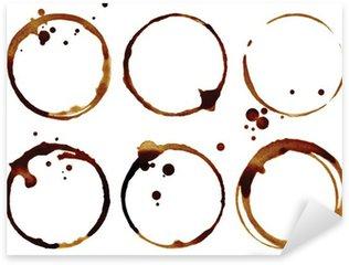 Adesivo Pixerstick Tazza di caffè anelli isolati su uno sfondo bianco