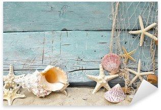 Pixerstick per Tutte le Superfici Vacanza marittima promemoria: conchiglie e stelle marine