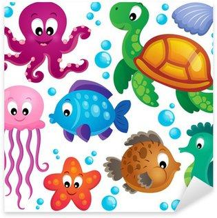 Pixerstick per Tutte le Superfici Vari animali marini set 1