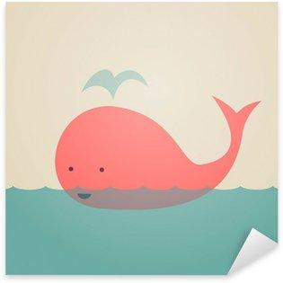 Adesivo Pixerstick Whale Carino