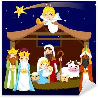 Pixerstick para Todas Superfícies Christmas Nativity Scene