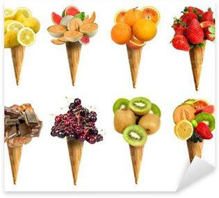 Pixerstick para Todas Superfícies Cono gelato set frutta